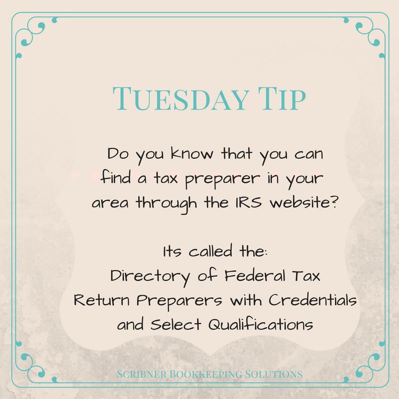 find a tax preparer